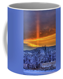 Country Winter Sun Pillar Coffee Mug