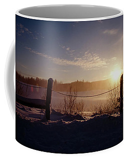 Country Winter Sunset Coffee Mug