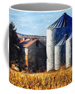 Countryside Old Barn And Silos Coffee Mug