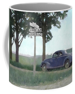 Coffee Mug featuring the digital art Coupe In The Countryside by David King