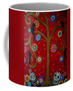 Couple Day Of The Dead Coffee Mug by Pristine Cartera Turkus