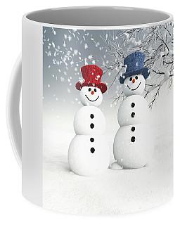 Couple Of Snowmen Coffee Mug