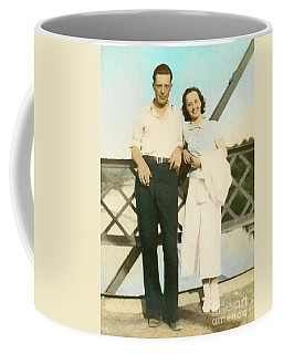 Couple On A Bridge Coffee Mug