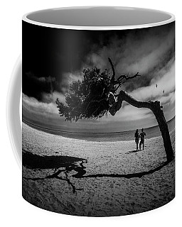 Coffee Mug featuring the photograph Couple On Cabrillo Beach By Los Angeles California by Randall Nyhof