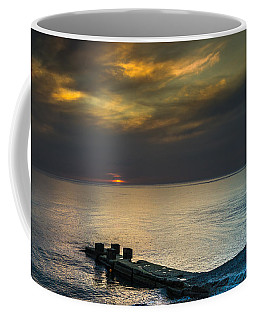 Couple Watching Sunset Coffee Mug by John Williams