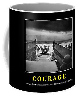 Courage -- D Day Poster Coffee Mug