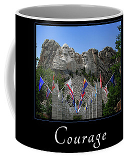 Coffee Mug featuring the photograph Courage by Mary Jo Allen