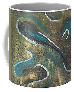 Coffee Mug featuring the painting Courage by Rebecca Davidson