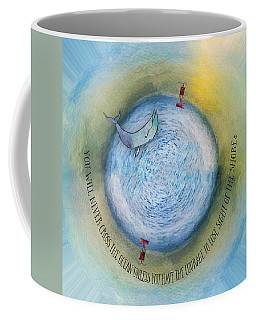 Courage To Lose Sight Of The Shore Orb Mini World Coffee Mug
