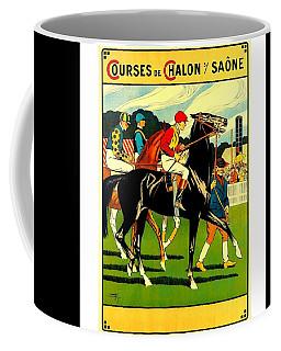 Courses De Chalon French Horse Racing 1911 II Coffee Mug