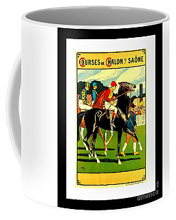 Courses De Chalon French Horse Racing 1911 II Leon Gambey Coffee Mug