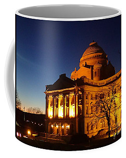 Courthouse At Night Coffee Mug