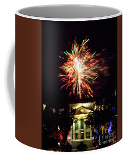 Courthouse Fireworks Coffee Mug