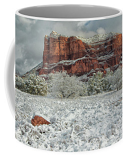 Courthouse In Winter Coffee Mug by Tom Kelly