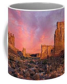 Courthouse Towers And Three Gossips Coffee Mug