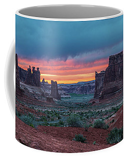 Courthouse Towers Arches National Park Coffee Mug