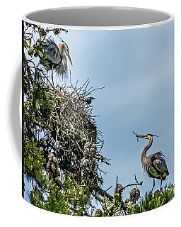 Courting Herons 1 Coffee Mug