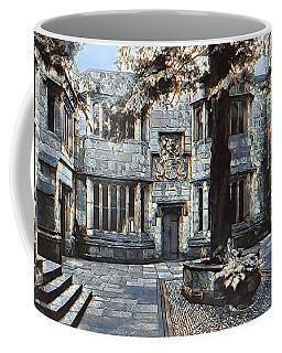 Coffee Mug featuring the digital art Courtyard Of Skipton Castle by Pennie McCracken