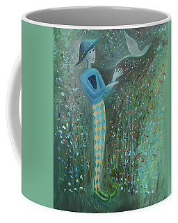 Coffee Mug featuring the painting Cousin Good Shoes Sentinel by Tone Aanderaa