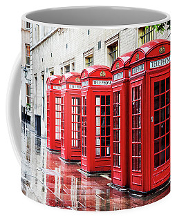 Covent Garden Phone Boxes Coffee Mug