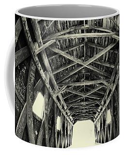 Covered Bridge At Kent Falls With Graffiti Coffee Mug