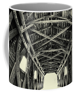 Covered Bridge At Kent Falls With Graffiti Coffee Mug