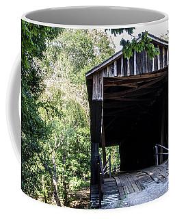 Coffee Mug featuring the photograph Covered Bridge At Red Oak Creek by Randy Bayne