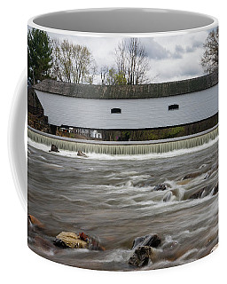 Covered Bridge In March Coffee Mug