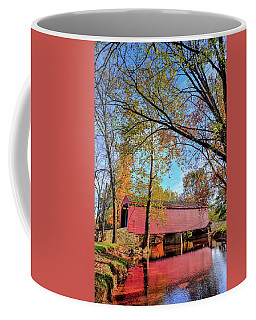 Covered Bridge In Maryland In Autumn Coffee Mug