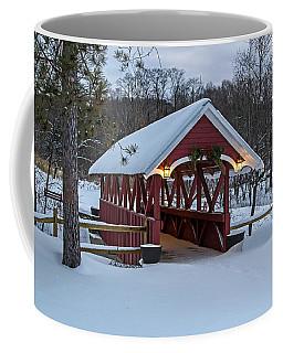 Covered Bridge In The Winter Coffee Mug
