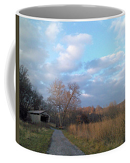 Coffee Mug featuring the photograph Covered Bridge by Melinda Blackman