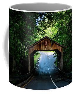 Coffee Mug featuring the photograph Covered Bridge by Onyonet  Photo Studios