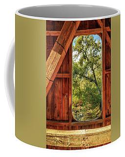 Coffee Mug featuring the photograph Covered Bridge Window by James Eddy