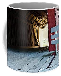 Coffee Mug featuring the photograph Covered Bridge, Winterset, Iowa by Wilma Birdwell