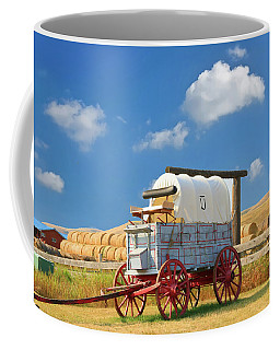 Coffee Mug featuring the photograph Covered Wagon - Bar U Ranch Alberta Canada by Ola Allen