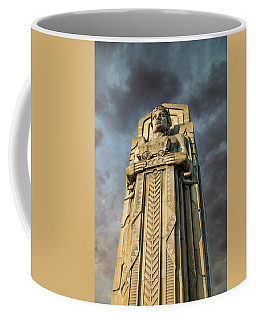 Covered Wagon Guardian On Hope Memorial Bridge Coffee Mug