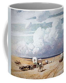 Covered Wagons Heading West Coffee Mug