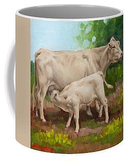 Cow  And Calf In Miniature  Coffee Mug