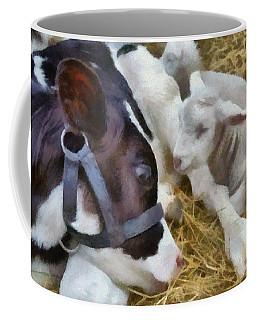 Cow And Lambs Coffee Mug