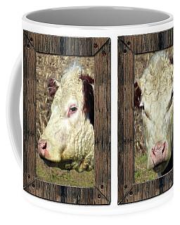 Cow Framed Coffee Mug by Tina M Wenger