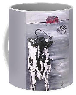Cow In Winter Coffee Mug