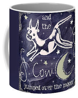 Cow Jumped Over The Moon Chalkboard Art Coffee Mug