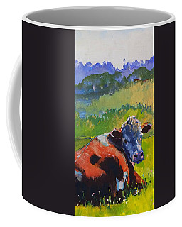 Cow Lying Down On A Sunny Day Coffee Mug