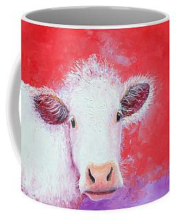 Cow Painting - Charolais Coffee Mug
