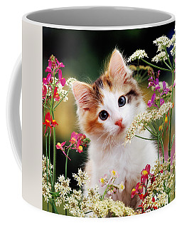 Cow Parsley Cat Coffee Mug