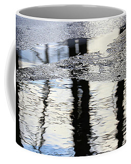 Cow Pond Brook Reflections With Ice 2 Coffee Mug by Mary Bedy