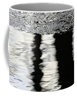 Cow Pond Brook Reflections With Ice Coffee Mug by Mary Bedy