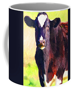 Coffee Mug featuring the photograph Cow Stare 2 . Photoart by Wingsdomain Art and Photography