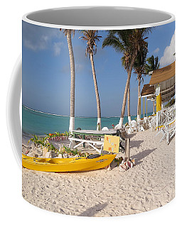 Coffee Mug featuring the photograph Cow Wreck Bay Beach Bar 2 by Eric Glaser
