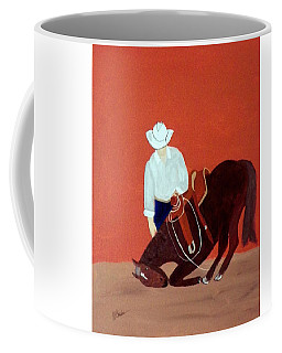 Cowboy And His Horse Coffee Mug